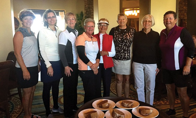 RRLGA members who have had a hole-in-one: Sue Waibel, Mary Pryor, Karen Connell, Bobbie Johnson, Glady Miller, Lorna Watts, Pat Linderman and Kathy Holwick; not pictured from 2015 year: Shirley Eliuk and Jean DeChristopher; photographer, Judy Brozek