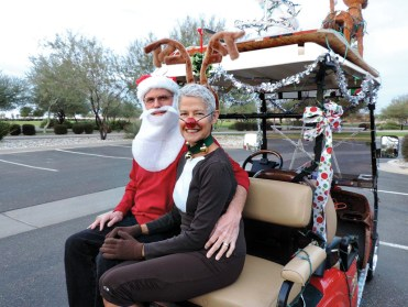 Ted and Jill Lui (Santa and Rudolph)