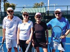 Dick Haynes and Gwynda Allen defeated Ruth Ann Strohn and Jim Sutherland