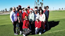 Everyone got in the Christmas spirit and wore their Christmas-themed golfing outfits to the 2019 Christmas Scramble.