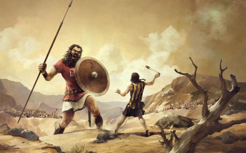 Como Davi foi pequeno para os homens, mas fez-se gigante aos olhos de Deus?