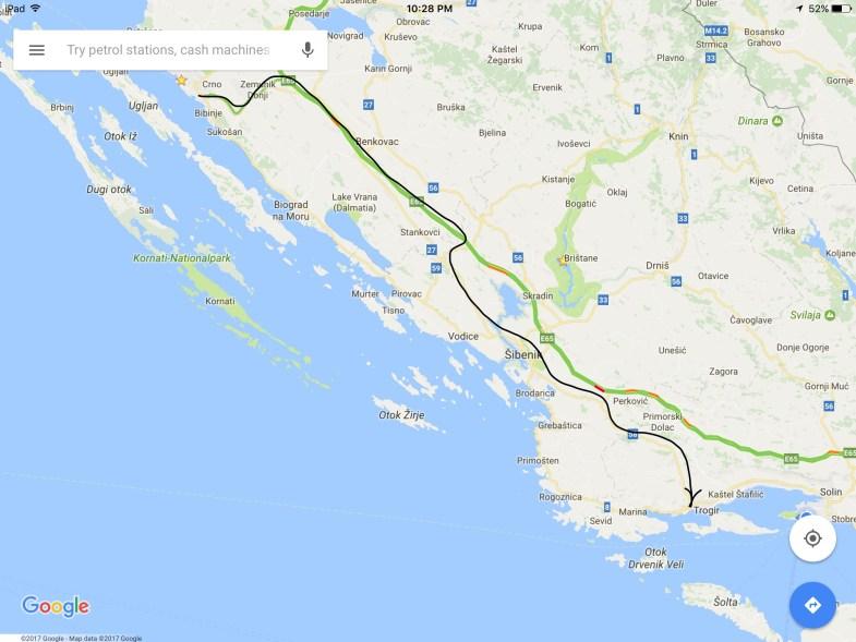 Zadar to Trogir