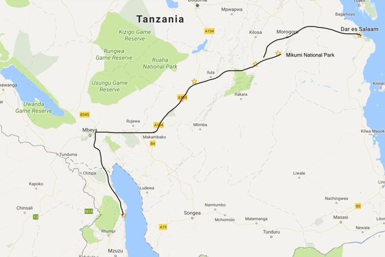 Malawai to Mikumi NP and Dar