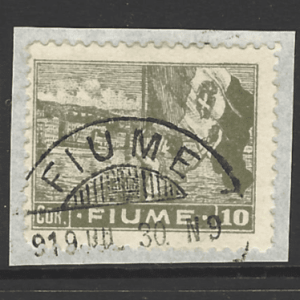 SG 69 on piece. Fiume Stamps