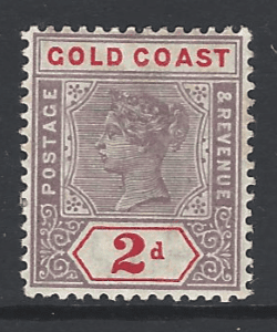 SG 27b, Gold Coast Stamps
