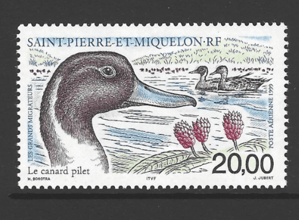 SG 813, Unmounted Mint, St Pierre et Miquelon Stamps