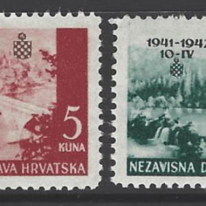 SG 59-62, Unmounted Mint. Croatia Stamp