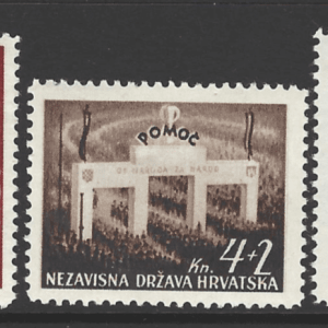SG 64-66, Mounted Mint, Croatia Stamps