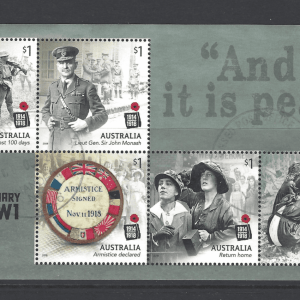 SG New Issue- Centenary of WW1. Australia Stamps