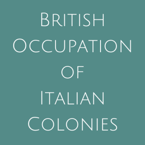 British Occupation of Italian Colonies Stamps