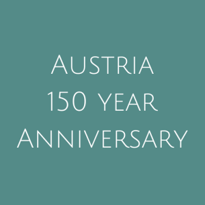 Austria, 150 Year Anniversary Stamps