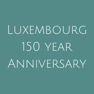 Luxembourg 150 Year Anniversary Stamps