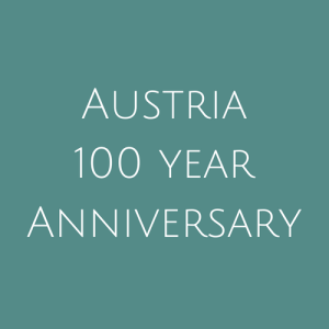 Austria 100 Year Anniversary Stamps