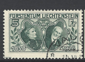 SG 91, Liechtenstein Stamp