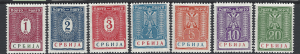 German Occupation of Serbia. SG GD69-75. Mounted Mint. GD71 is creased.