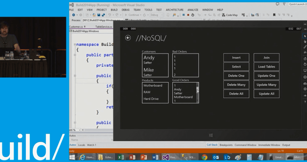 //build/ : Wrap a Mobile API around your Enterprise and take Data Offline with NoSQL on Windows Phones and Tablets