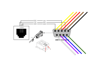 wiring pinout needed for RJ11 to DB9 serial