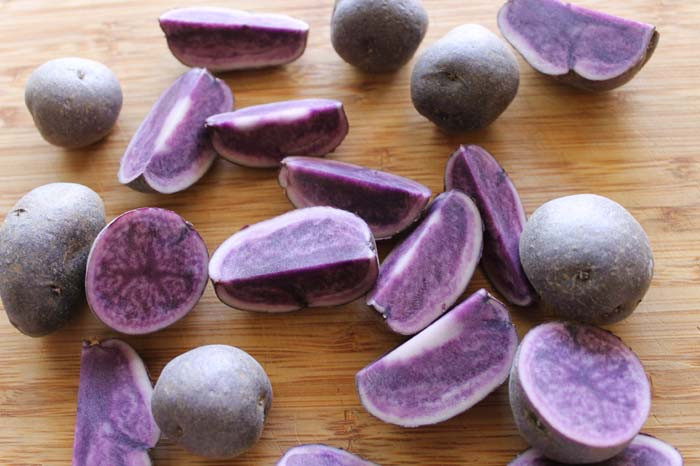 Roasted Purple Potatoes with Tarragon