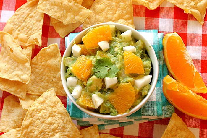 Orange and Jicama Guacamole