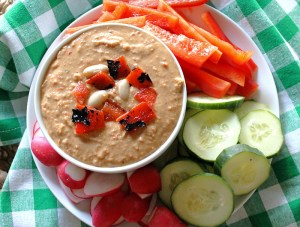 Roasted Red Pepper White Bean Hummus