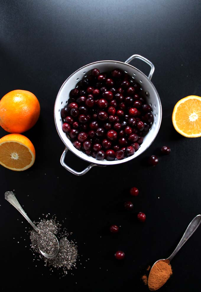 Cranberry Chia Seed Jam. Only takes 20 minutes #Vegan #Glutenfree
