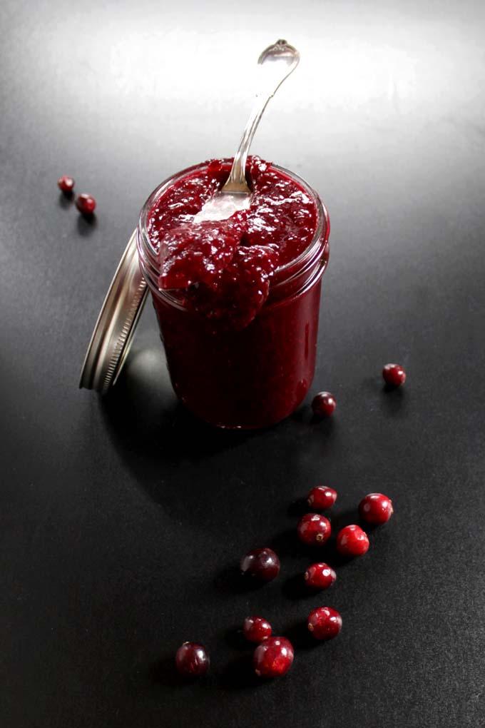 Easy Cranberry Chia Seed Jam #Vegan #GlutenFree