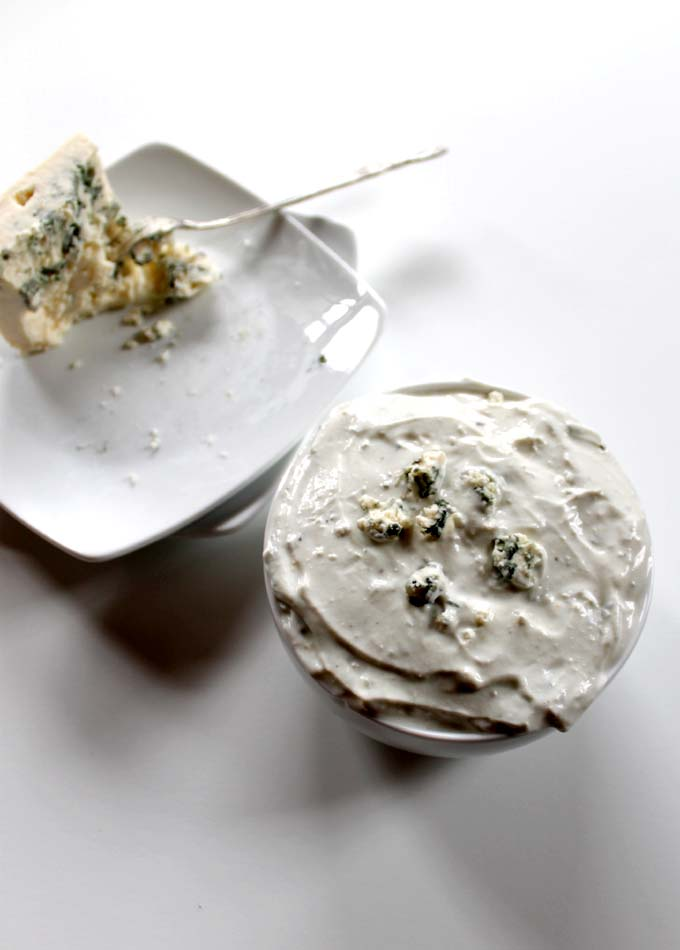 Homemade Blue Cheese Sauce. Quick and Easy. Delicious. #glutenfree
