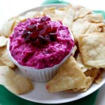Beet and Yogurt Dip. A great appetizer or snack for the Holidays. #Glutenfree #Vegetarian