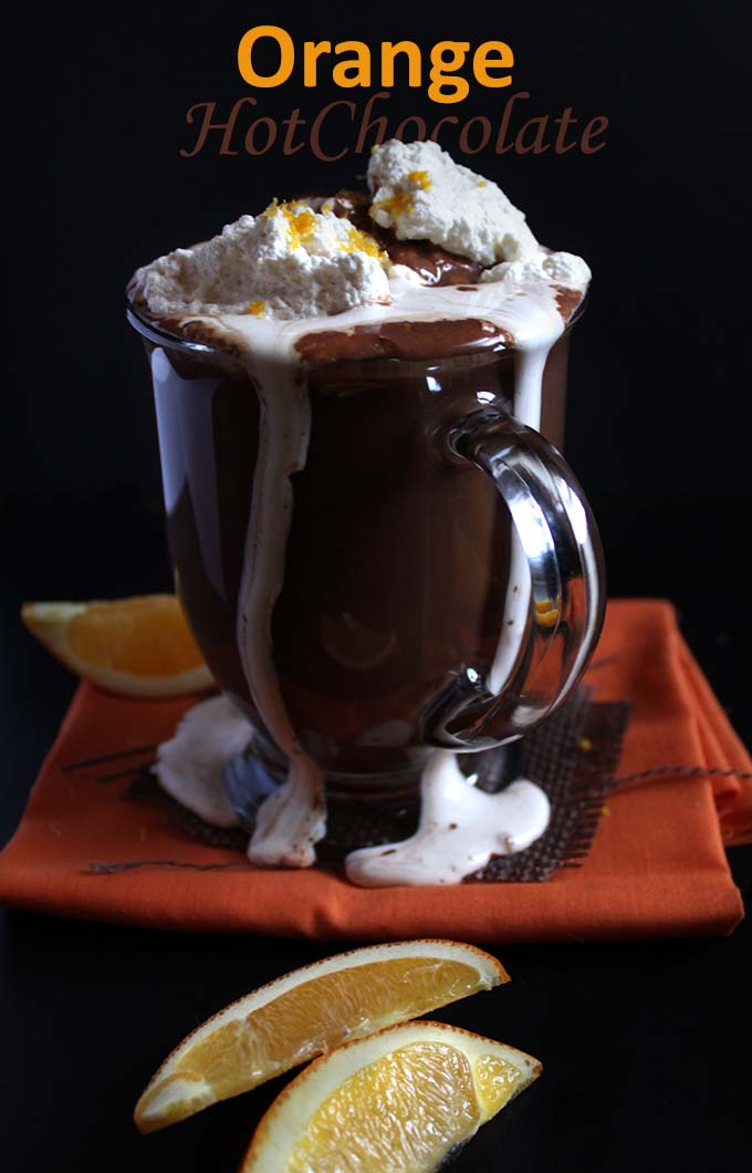 Orange Hot Chocolate. Unexpected. Delicious. Indulgent #hotchocolate #glutenfree