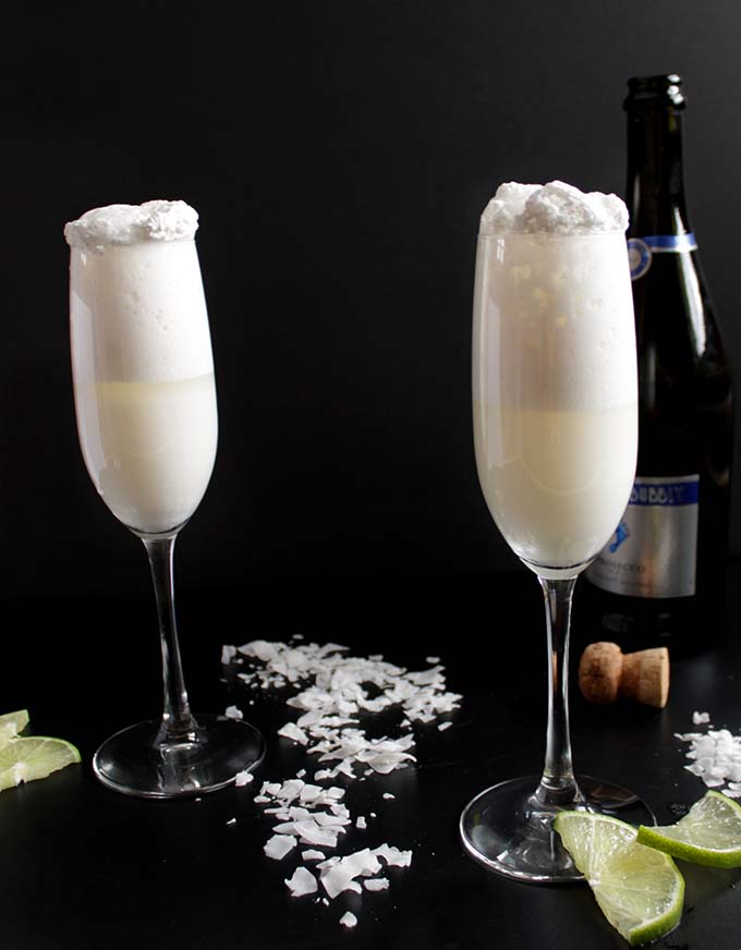 Coconut Bellini. Easy. Delicious. #Cocktail