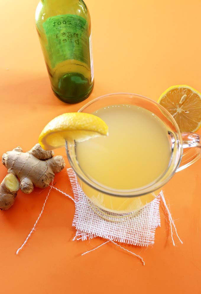 Ginger Hot Toddy. Easy. Warming. #wintercocktail