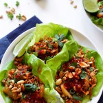 Thai Chicken Lettuce Wraps. Easy. Satisfying. Spicy