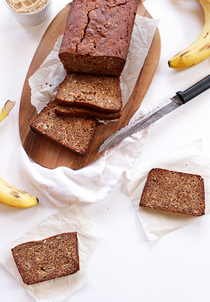 Gluten-Free Banana Bread. Made with almond flour! #GlutenFree #HomadeBread