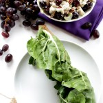 Chicken Sanoma Salad Swiss Chard Wrap. Easy. Delicious. Healthy. #lowcarb #glutenfree