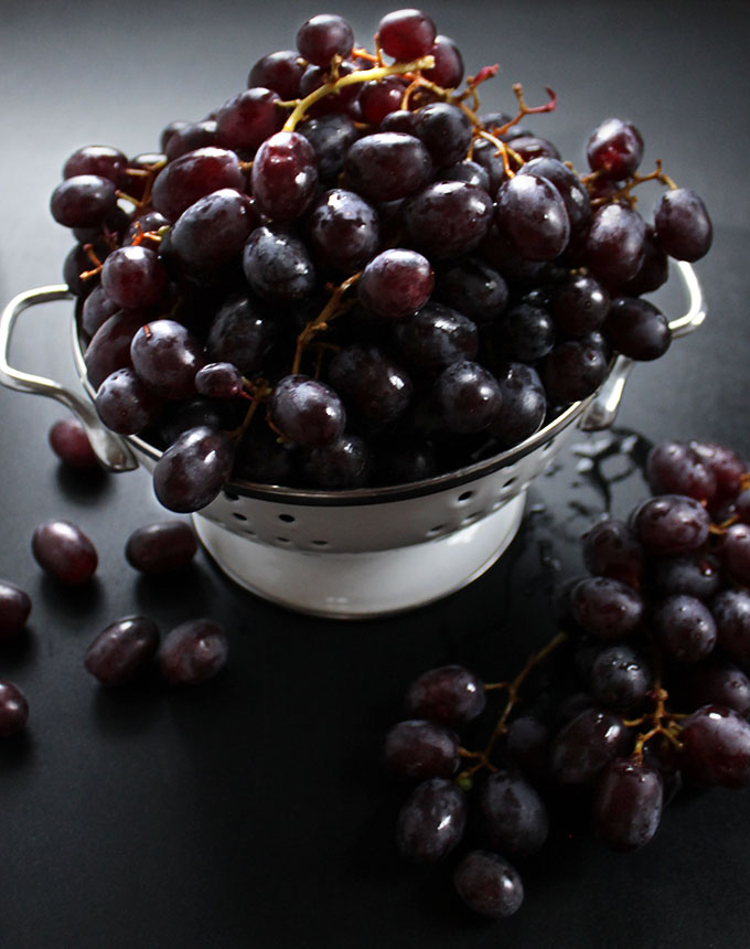 Grapes for Sanoma Chicken Salad Swiss Chard Wrap #glutenfree