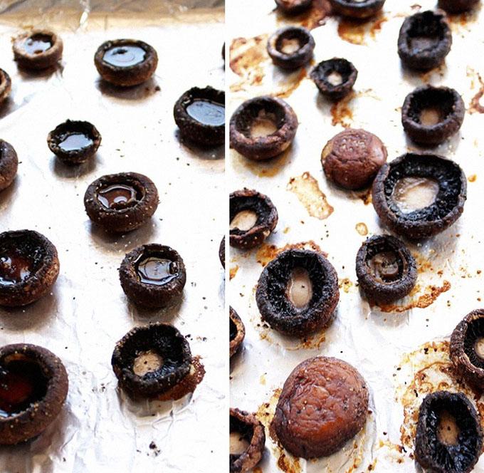 How to roast mushroom caps for stuffed mushrooms