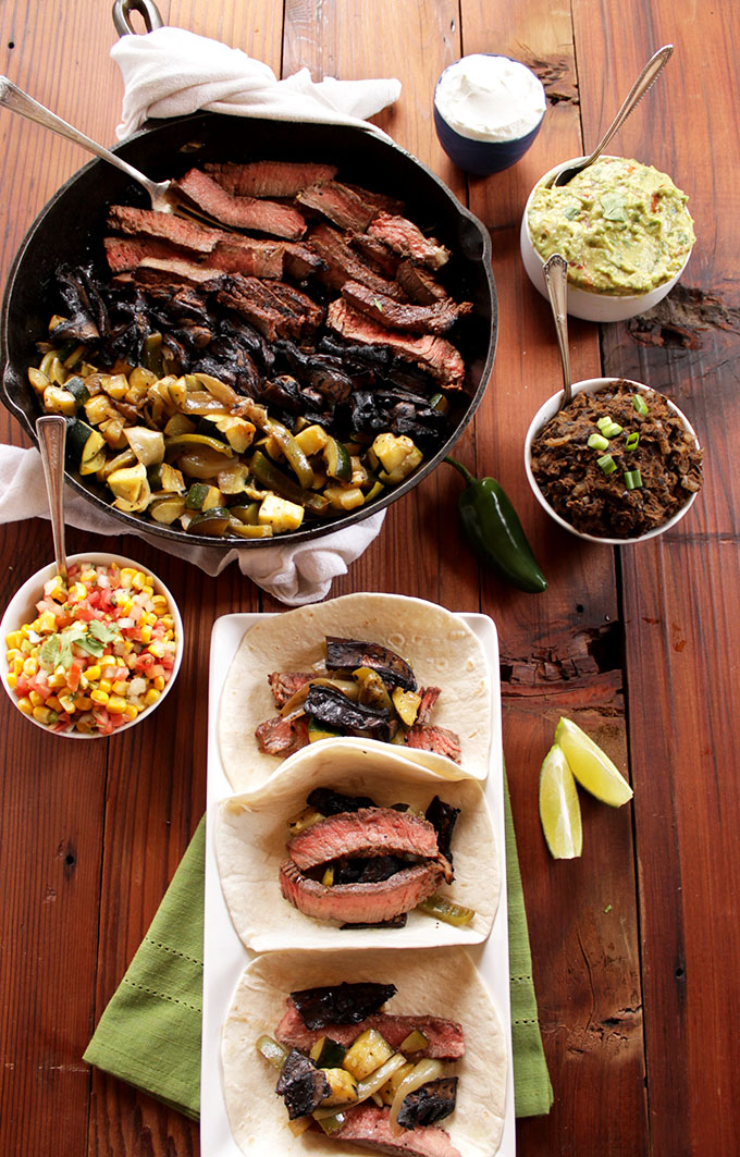 Zucchini and Portobello Mushroom Fajitas. Easy. Dimple. Delicious. Perfect for #Cincodemayo