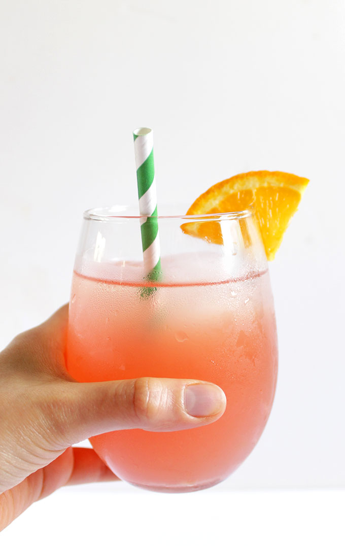 Rhubarb and Honey Drink. Easy to make. Unique. Sweet, refreshing drink. #refinedsugarfree