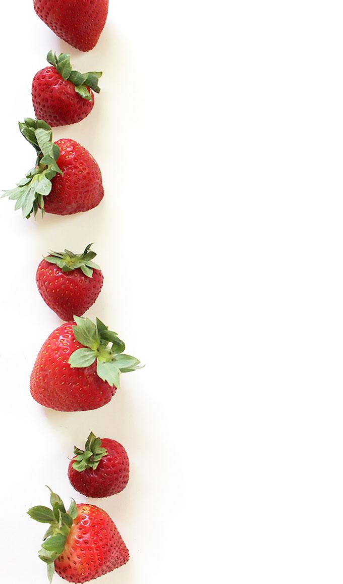 Strawberries for Strawberry cucumber salad! | robustrecipes.com