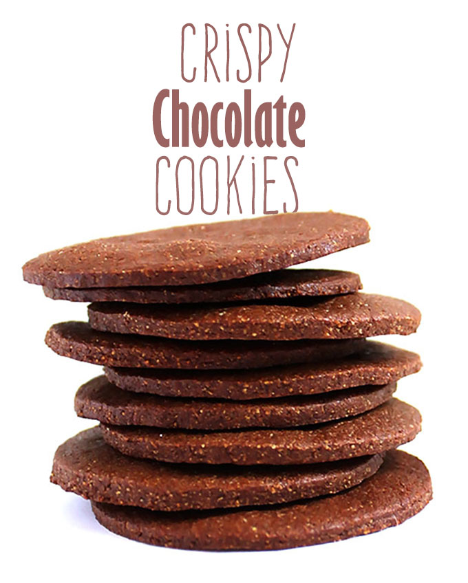 Thin and Crispy Chocolate cookies. Delicious. Satisfying. #glutenfree #refinedsugarfree #cookies | robustrecipes.com