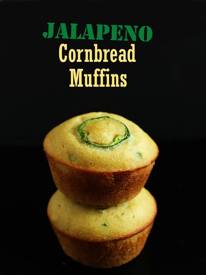 Jalapeno Cornbread Muffins. So easy to make. Sweet and spicy combo! #glutenfree | robustrecipes.com