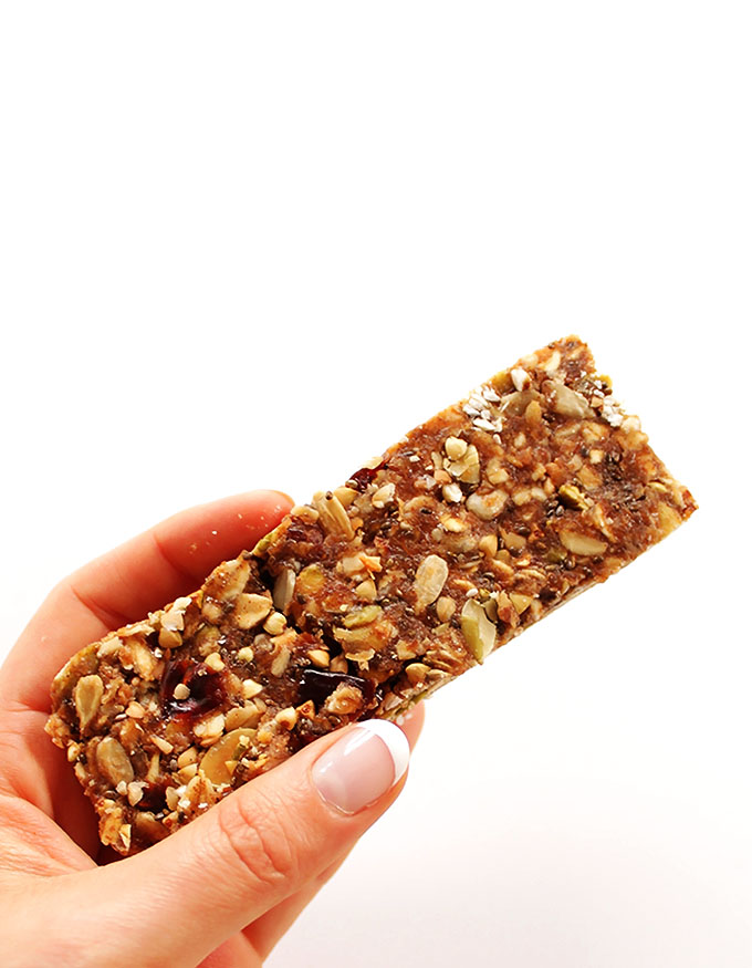 Seedy Buckwheat Granola Bars. An easy, healthy on the go snack! #glutenfree