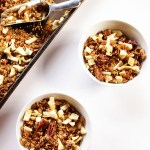 Apple Spiced Granola. Really easy and healthy snack or breakfast. Vegan and Glutenfree!