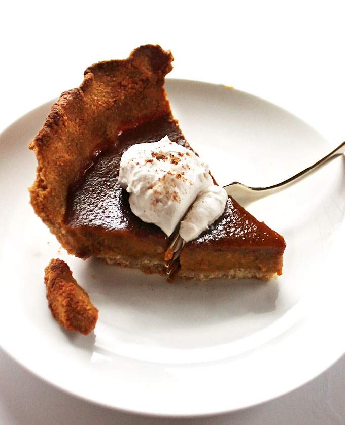 Gluten free pumpkin pie! So simple, so delicious, perfect for any holiday!