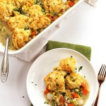 Chicken Pot Pie Casserole. Simple, hearty, comforting. Gluten Free!