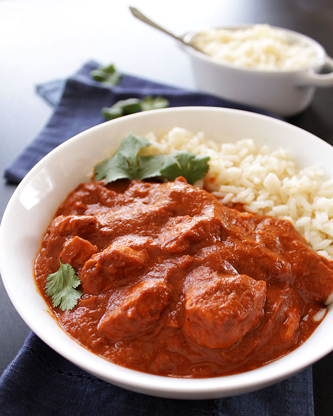 Butter Chicken - A delicious Indian dish that is so EASY to make. This is one of our favorite recipes! Gluen free. | robustrecipes.com