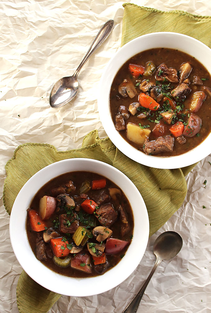 Irish Beef and Guinness Stew - A traditional Irish recipe that's perfect for St. Patrick's Day. Rich, hearty, and delicious! | robustrecipes.com