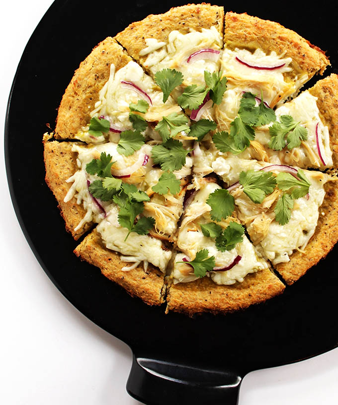 Green Chicken Enchilada Pizza (GF)