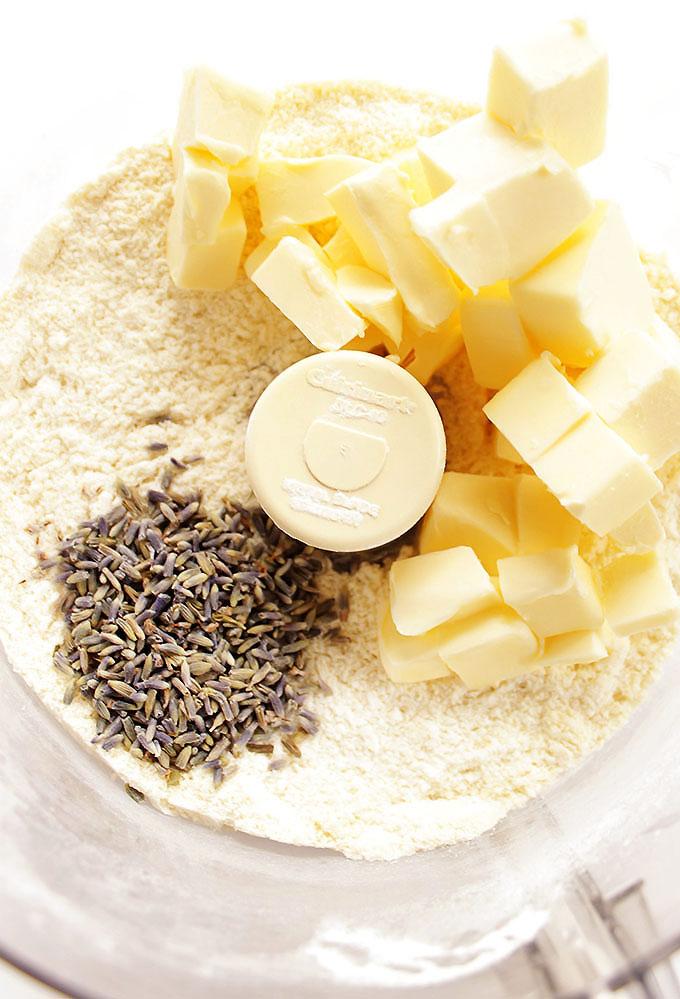 Lavender Lemon Cookies - Gluten Free/Egg Free | robustrecipes.com