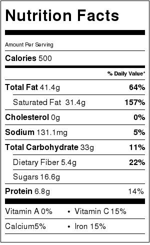 Key Lime Pie - Nutrtion Info
